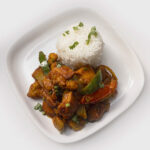 Kadhai Chicken (Stir-fried Chicken with Peppers)