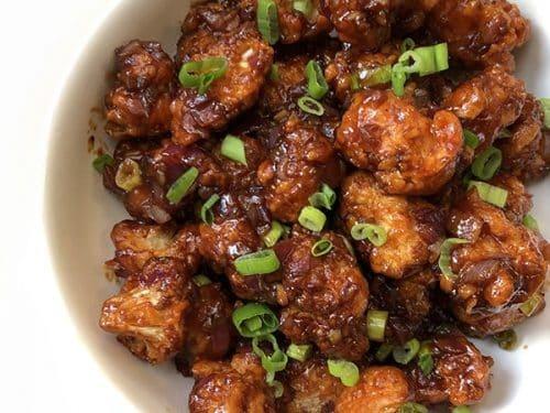 Gobi Manchurian Cauliflower Manchurian Hakka Style Hooked On Heat