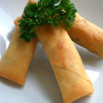 Spicy Honey-Garlic Spring Rolls