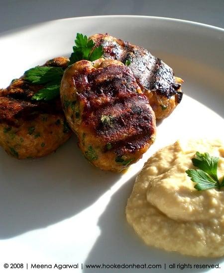 Recipe for Mediterranean Kebabs taken from www.hookedonheat.com. Visit site for detailed recipe.