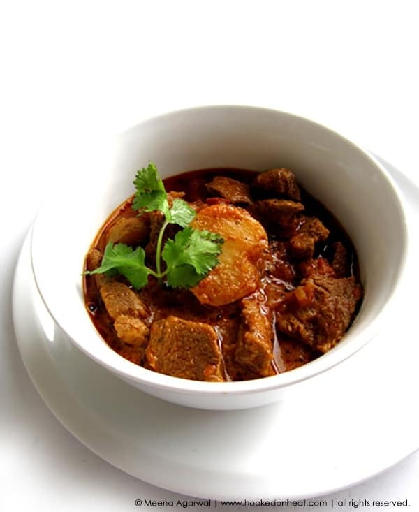 Recipe for Lamb & Potato Curry, taken from www.hookedonheat.com. Visit site for detailed recipe.