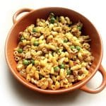 Recipe for Masala Macaroni taken from www.hookedonheat.com. Visit site for detailed recipe.