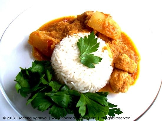 Recipe for Coconut-Lime Chicken Curry taken from www.hookedonheat.com. Visit site for detailed recipe.