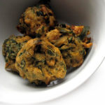 Recipe for Palak (Spinach) Pakodas taken from www.hookedonheat.com. Visit site for detailed recipe.