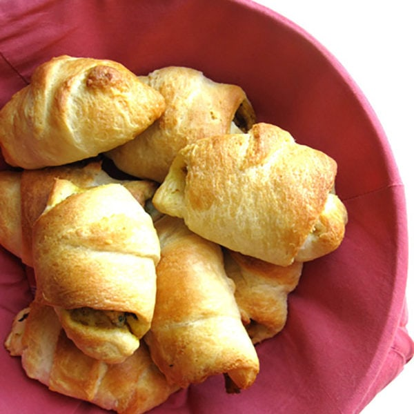 Recipe for Chicken Croissants taken from www.hookedonheat.com. Visit site for detailed recipe.