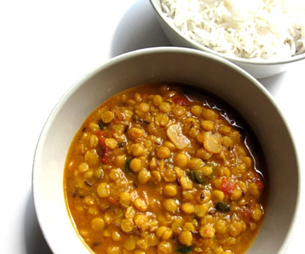 Recipe for Dhabewali Dal Tadka, taken from www.hookedonheat.com. Visit site for detailed recipe.