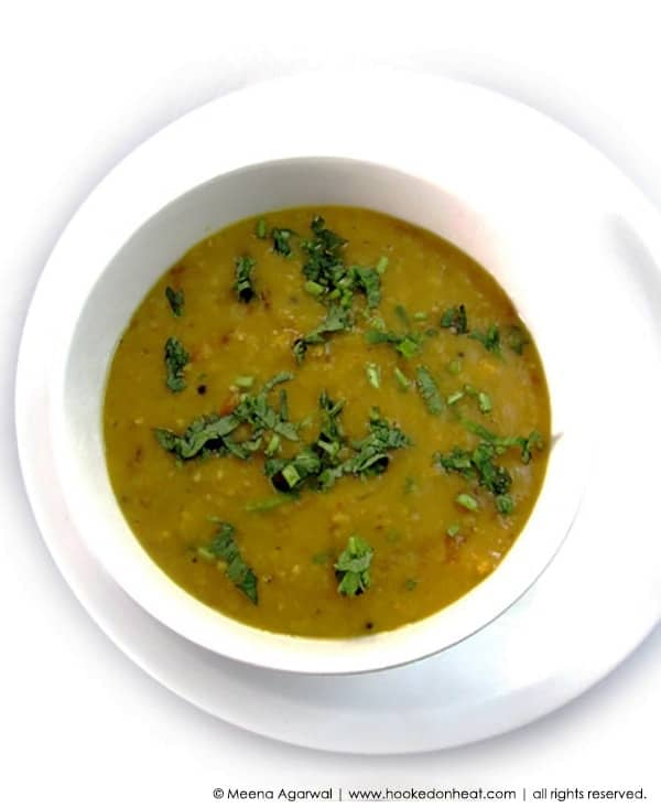 Recipe for Panch Phoron Dal taken from www.hookedonheat.com. Visit site for detailed recipe.