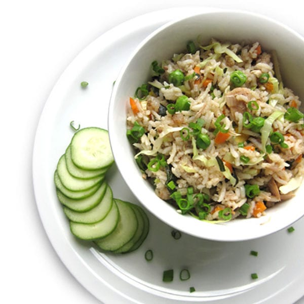 Recipe for Basil Fried Rice taken from www.hookedonheat.com. Visit site for detailed recipe.