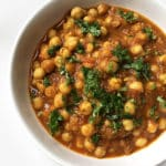 Recipe for Chana Masala (Chickpea Curry), taken from www.hookedonheat.com. Visit site for detailed recipe.