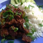 Recipe for Spiced Lamb with Peppers, taken from www.hookedonheat.com. Visit site for detailed recipe.