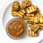 Recipe for Fried Tofu & Peanut Sauce taken from www.hookedonheat.com. Visit site for detailed recipe.