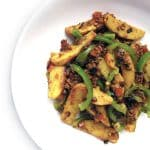 Recipe for Alu Shimla Mirch taken from www.hookedonheat.com. Visit site for detailed recipe.