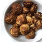 Recipe for Banana Pancake Balls, taken from www.hookedonheat.com. Visit site for detailed recipe.