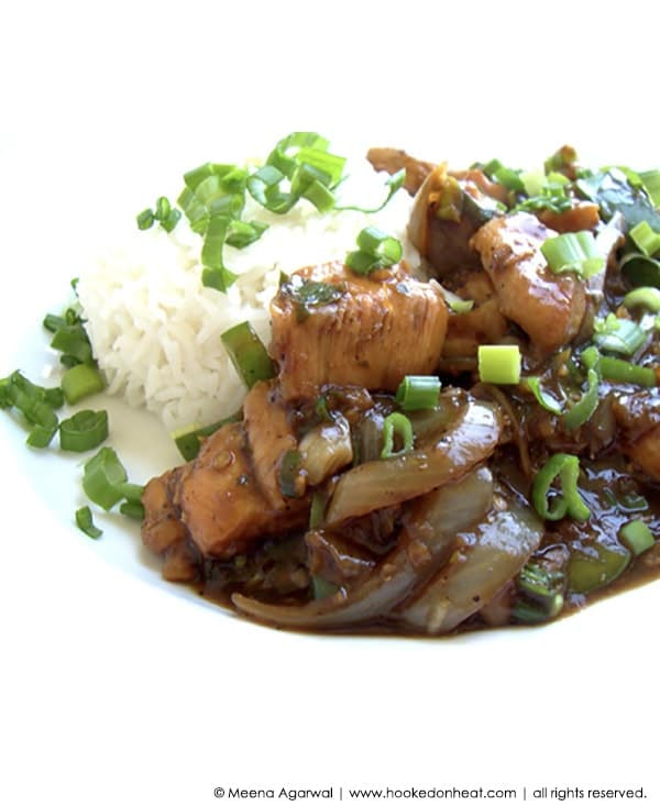 Recipe for Chilli Chicken (Saucy) taken from www.hookedonheat.com. Visit site for detailed recipe.