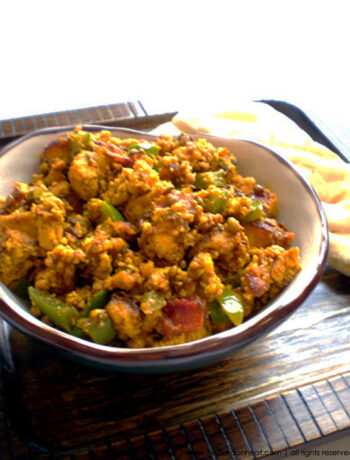 Recipe for Paneer Tak-a-Tak taken from www.hookedonheat.com. Visit site for detailed recipe.