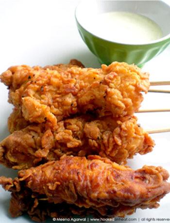 Recipe for Tandoori Chicken Pops taken from www.hookedonheat.com. Visit site for detailed recipe.