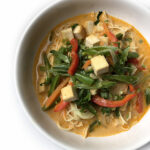 Thai Curry Noodle Soup with Tofu & Veggies