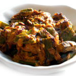 Dahi Bhindi: Okra cooked with Yogurt