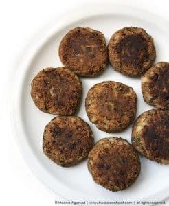 Recipe for Vegan Shami Kebabs taken from www.hookedonheat.com. Visit site for detailed recipe.