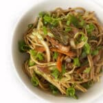 Recipe for Chicken Noodle Stir-Fry taken from www.hookedonheat.com. Visit site for detailed recipe.